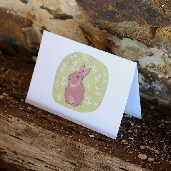 Bashful Rabbit Animated Notecard